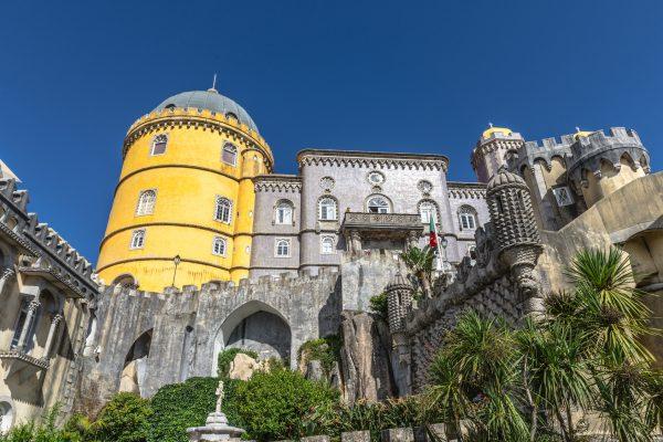 The Pena National Palace (Palacio da Pina) in Sintra, Portugal